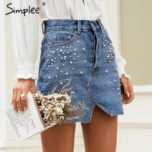denim-embellished-skirt-mini-high-waist-forsep style-marketplace