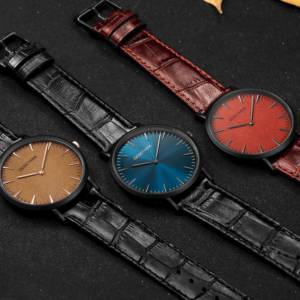 cheap leather strap watch elegant fashion style Men 1