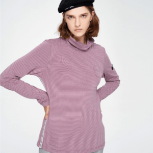 90's Style stripped high-neck long sleeve t-shirt (blouse) for women 2019 Japanese streetwear women 90's style -marketplace