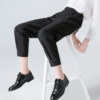 high waist black women trousers - ankle lenght - black women pants - forstep style - marketplace