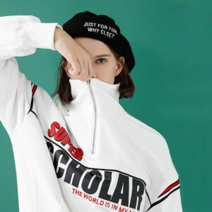 Sporty Vintage Sweaterr - Vintage Sweater - Sporty Vintage-Autumn-Turtleneck-Pullovers-Tops-With-Letters-Print-Striped-Female-Sweatshirt-4