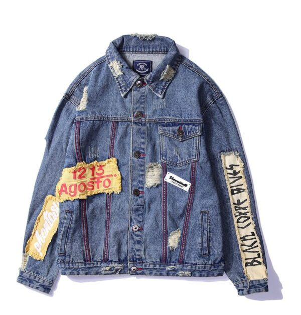 embroidered jean jacket mens