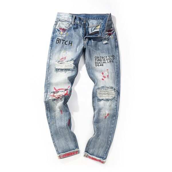 mens distressed jeans skinny