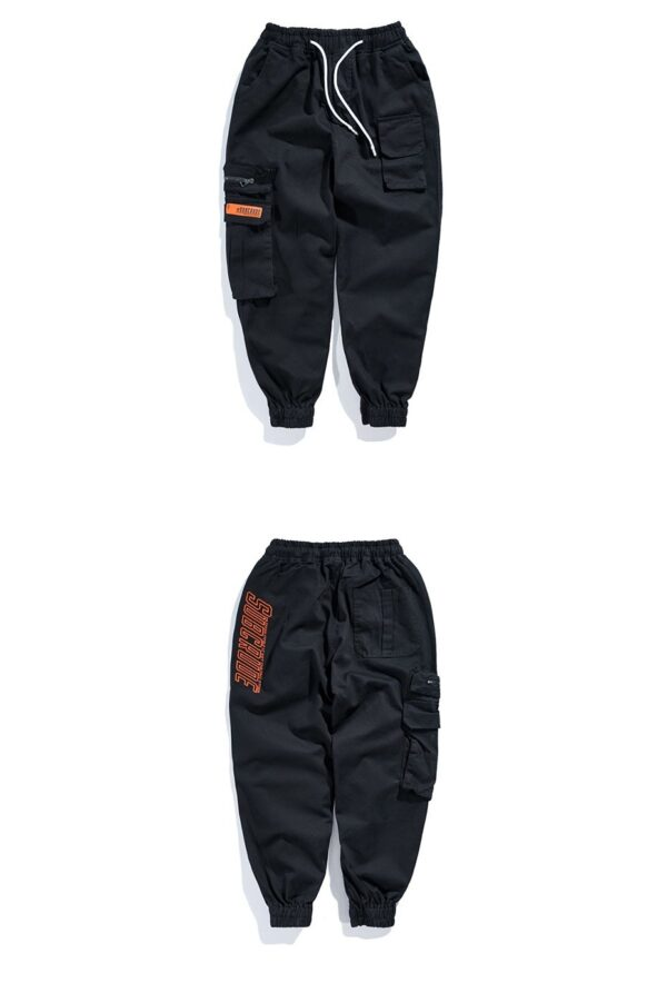 BLACK CARGO PANTS - CARGO JOGGERS MENS - MENS STREETWEAR TROUSERS - STREETWEAR BLACK PANS FOR MEN