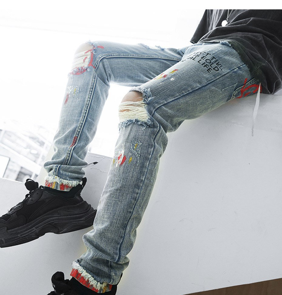 ripped skinny jeans mens