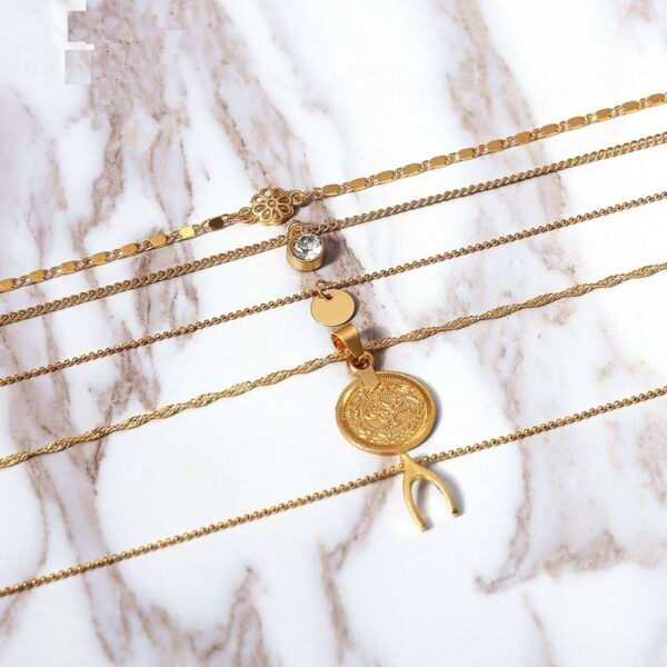 mulit-layer-pendant-necklace-gold-women-chic-coin-necklace-acceessories