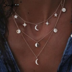 moon-pendant-necklace-multi-layered-goldend-silver-moon-long-necklace
