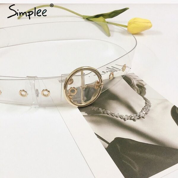 transparent-belt-women-white-with-golden-square