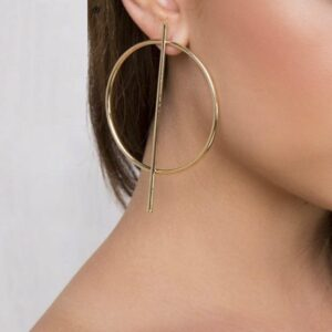 gold hoop earrings - 2019 trend
