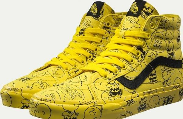 snoopy-vans-yellow-high-top-cartoon-shoes