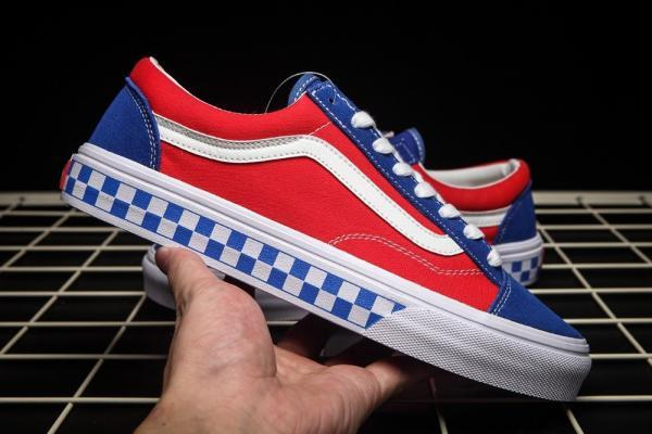 vans-bmx-shoes-checekrboard-style-36-old-skool-RED and Blue