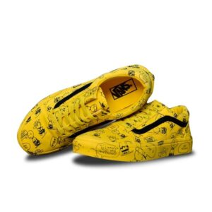 vans yellow snoopy
