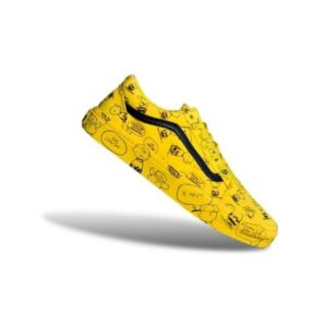 vans cartoon yellow shoes