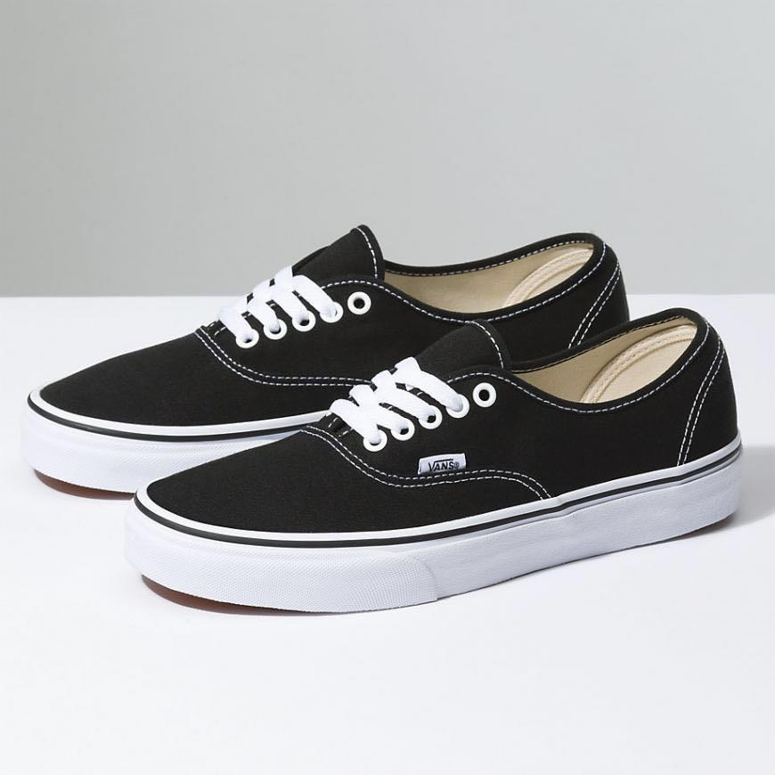 vans classic authentic black and white shoes