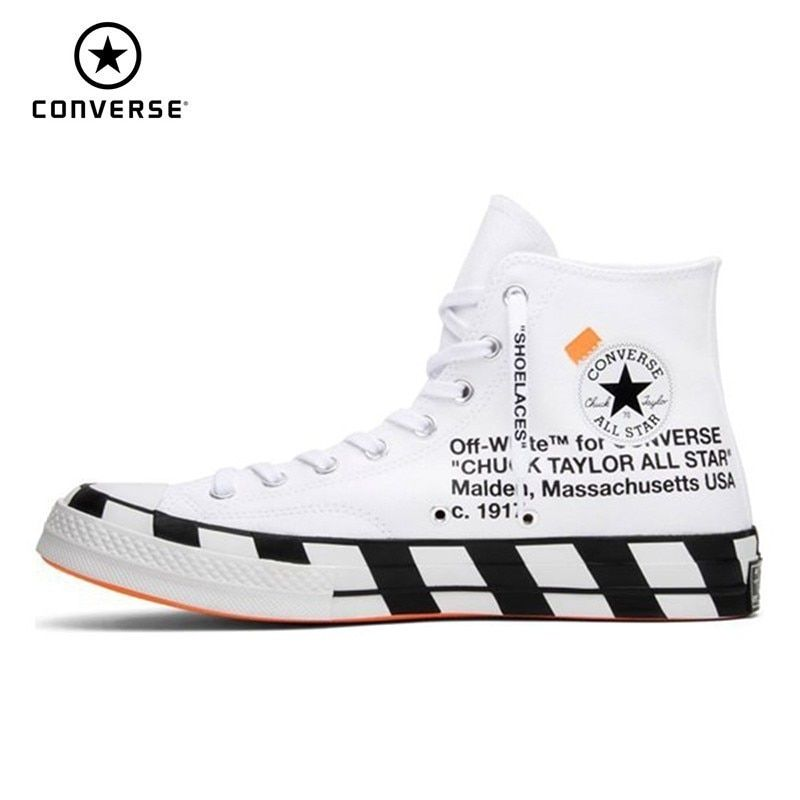 d3d115a403 CONVERSE X OFF-WHITE Chuck Taylor 1970s High Top Skateboarding Shoes  Anti-Slippery Unisex Sneakers