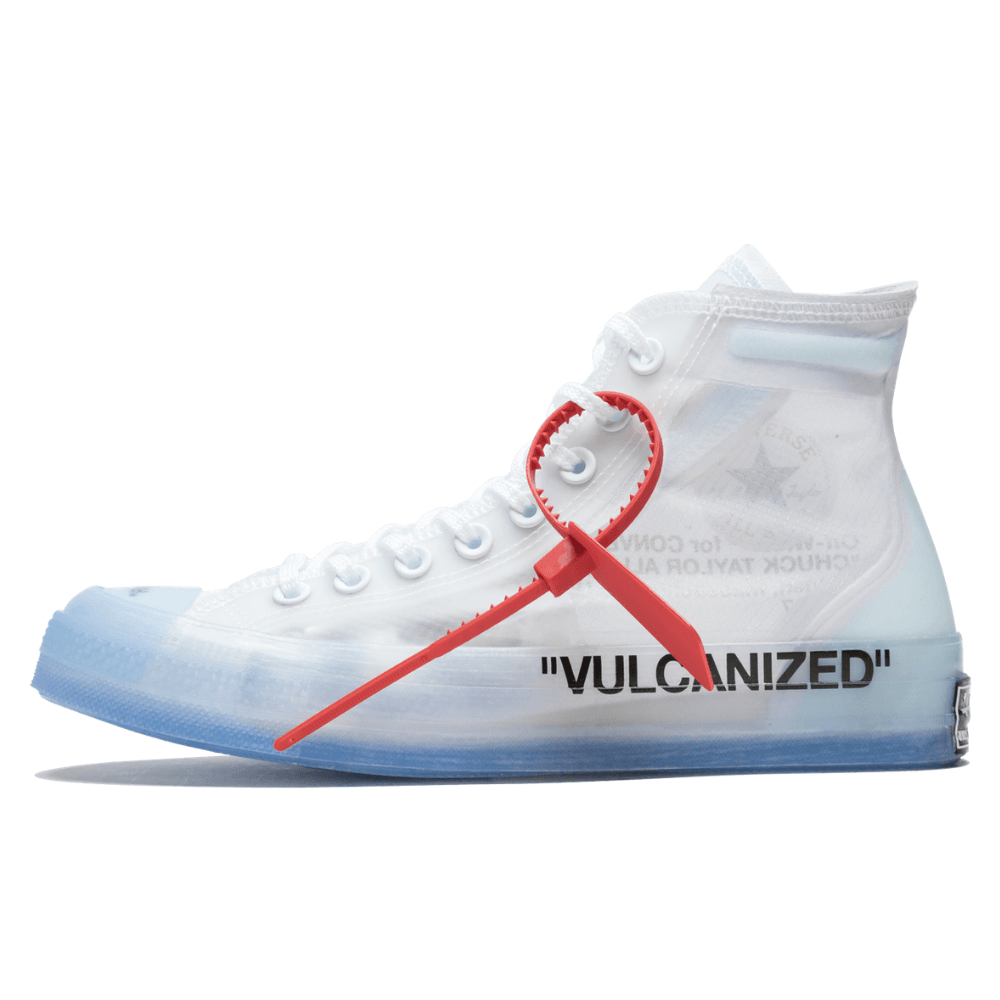 Converse x Virgil Aboh Chuck 70's Hi Off White Vulkanized OW Unisex  Sneakers With Ice Transparent Sole