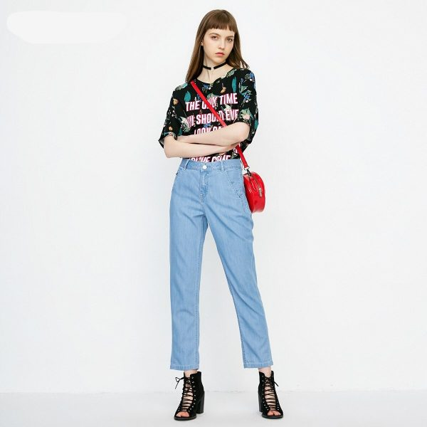 loose fit ankle jeans