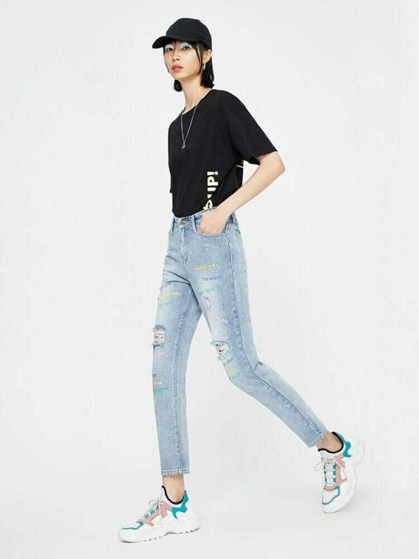 printed-jeans-womens-strait-fit-high-waist