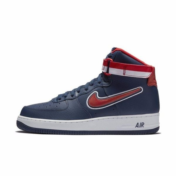 navy blue air force ones high top