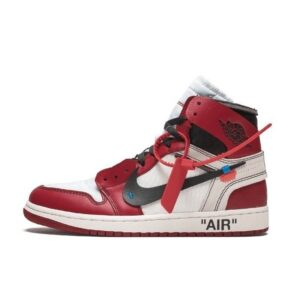 Nike Air Jordan 1 Off White - Red Chicago Color