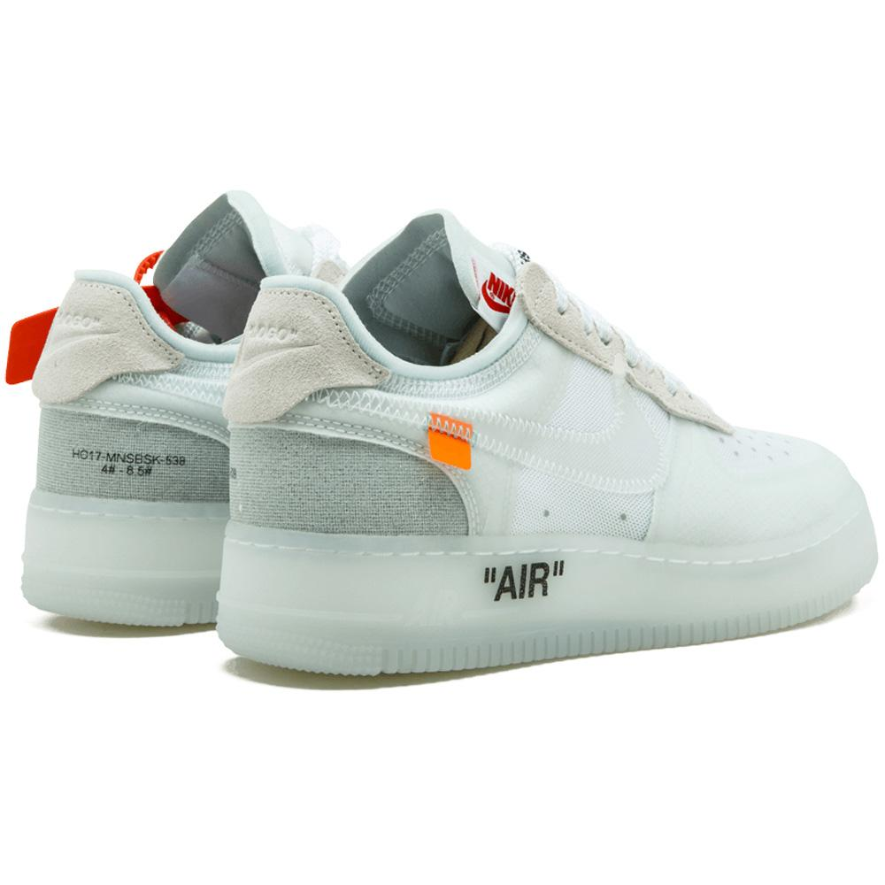 AF1 OFF WHITE Nike Air Force Shoes - White Color 4