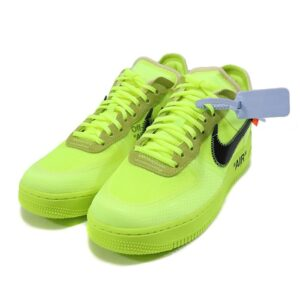 Air Force 1 Off White Nike Sneakers - Green Color 2