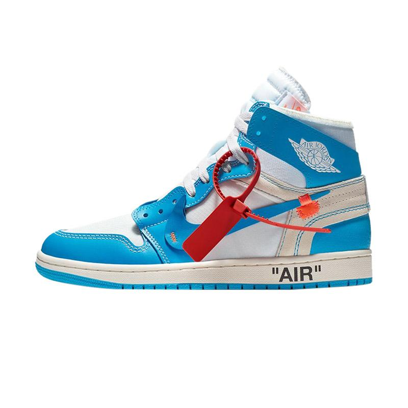 Nike Air Jordan 1 Off White - Blue Color