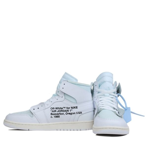 Nike Air Jordan 1 x Off White Chicago All White Color 3 AQ8296