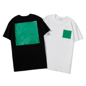 WHITE AND GREEN TSHIRT