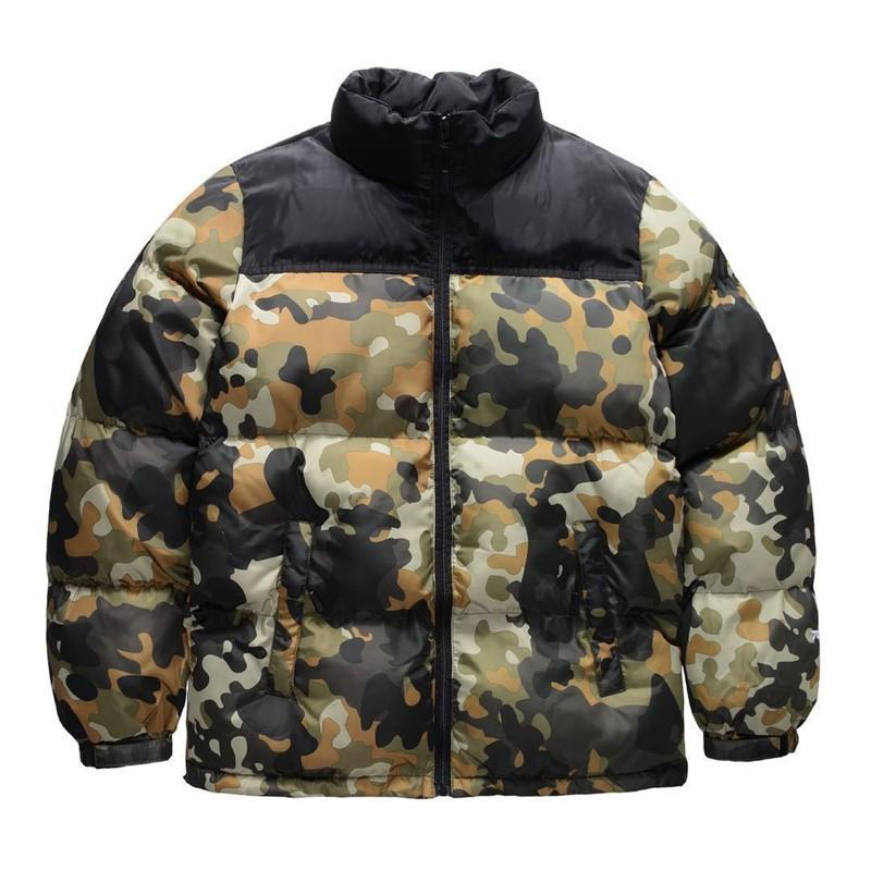 north face puffer jacket camouflage