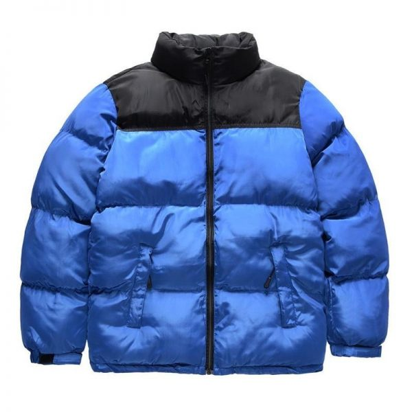 north face puffer jacket blue
