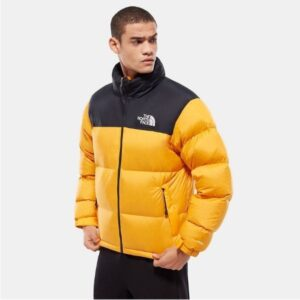 the north face yellow puffer jacket