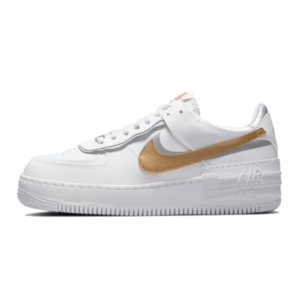 Air Force 1 Shadow White Metallic Gold Sneakers
